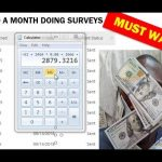 """How To Make Money Online   """"Surveys For Money"""" $1000 Monthly"""