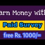 Earn Money Online With Paid Surveys 10 $ a day Without Investment Easy Way in India & Pakistan 2018