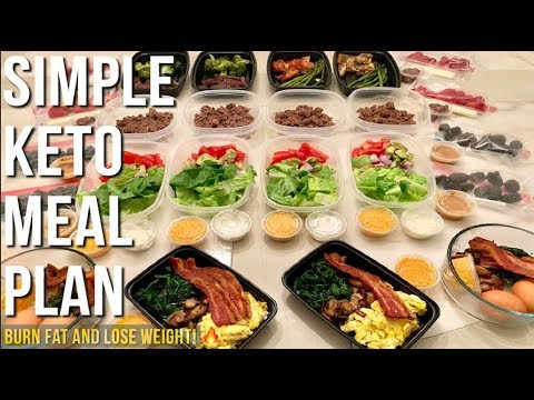 Simple Keto Meal Plan For The Week  – Burn Fat and Lose Weight