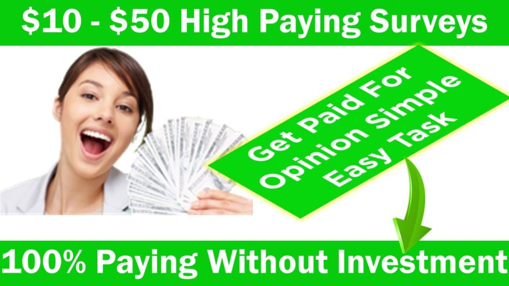 How To Make Money Online From surveys Best Paid Survey Sites High Paying Get Paid For Surveys 2019
