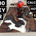 $3000 Epoxy Pour—Calculating Epoxy Volume--How to Woodworking