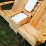 My most ambitious project so far. Double Adirondack chairs with built-in refrigerator.