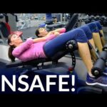 Unsafe Abdominal Exercises for Prolapse or After Hysterectomy - Physical Therapist Demonstration