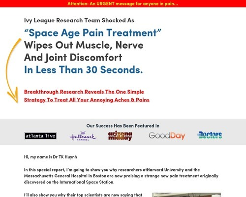 Space Age Pain Treatment Wipes Out Pain