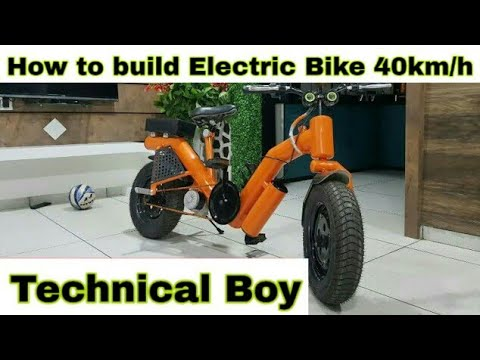 How to build Electric Bike 40km/h Using 350W Reducer Brushless Motor at home