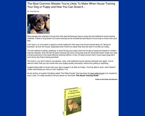 The House Training Guide – Easy, Effective Puppy House Training